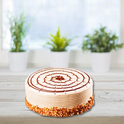 Butterscotch Eggless Cake